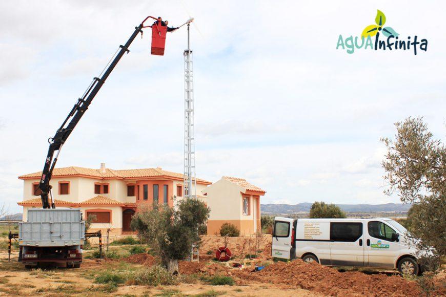 4c9a47e9277 Abastecimiento de agua con energía solar y eólica en casa de campo de  Albacete