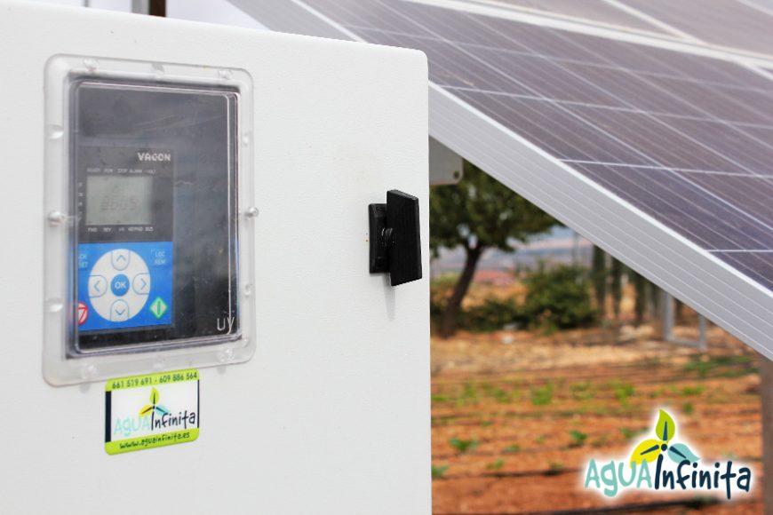 Energía solar para riego de huerta y depuradora de piscina en Almansa (Albacete)