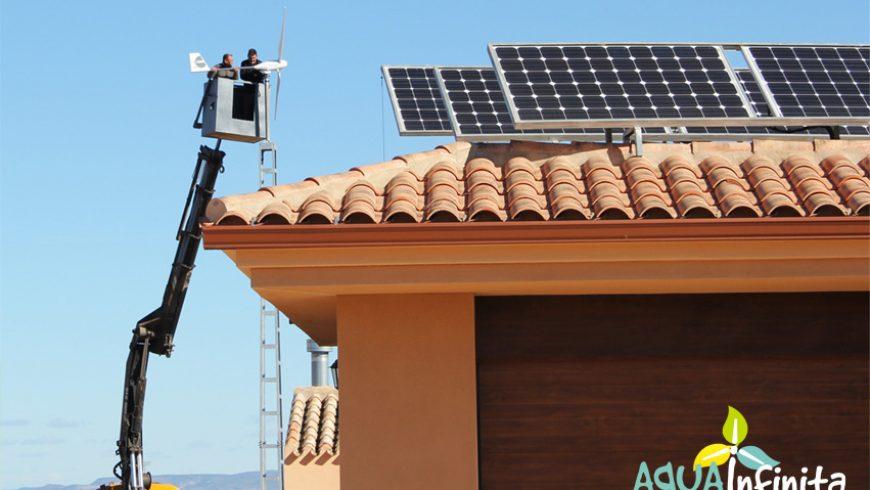 Instalación de Aerogenerador para vivienda autosuficiente en Albacete.